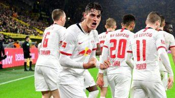 Dortmund menyia-nyiakan keunggulan dua gol untuk bermain imbang 3-3 dengan Leipzig
